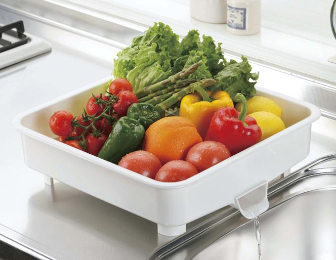 野菜水切りトレー使用例